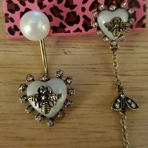 Nwt Betsey Johnson earrings